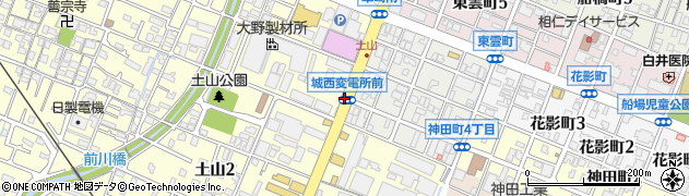 変電所前周辺の地図