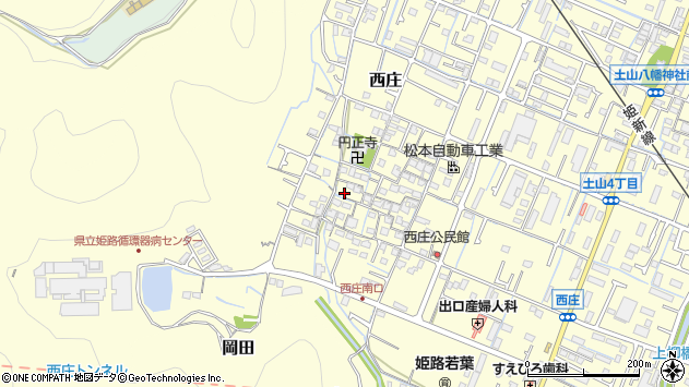 〒670-0981 兵庫県姫路市西庄の地図
