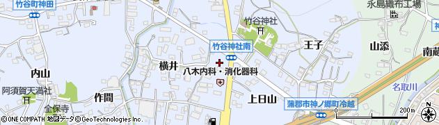 愛知県蒲郡市竹谷町(宮前)周辺の地図