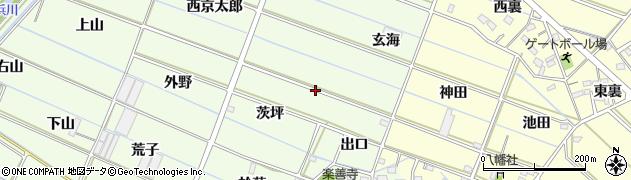 愛知県西尾市行用町(京太郎)周辺の地図