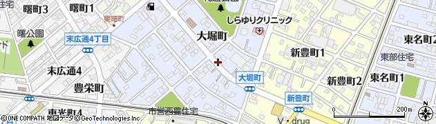 愛知県豊川市大堀町周辺の地図