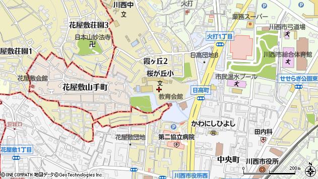 〒666-0032 兵庫県川西市日高町の地図
