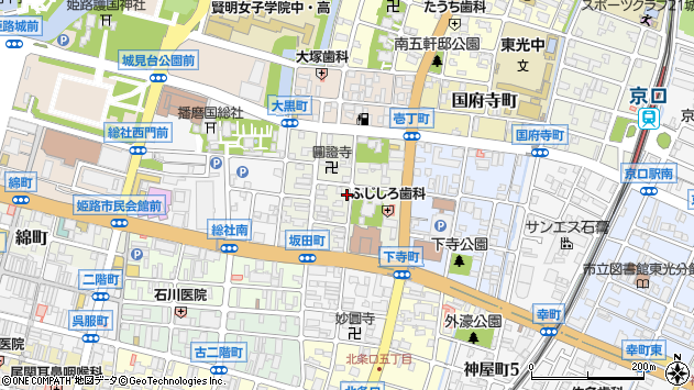 〒670-0931 兵庫県姫路市坂田町の地図