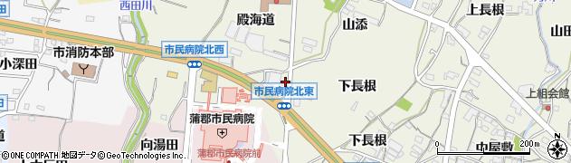 愛知県蒲郡市五井町(高立田)周辺の地図