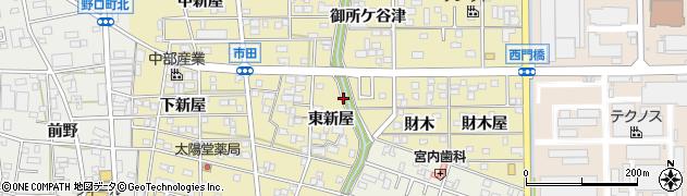 愛知県豊川市市田町周辺の地図