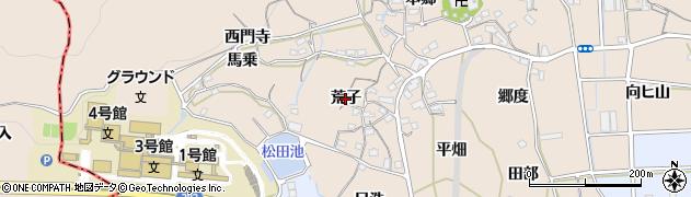 愛知県蒲郡市西迫町(荒子)周辺の地図