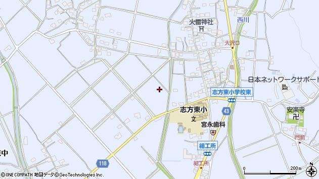 〒675-0303 兵庫県加古川市志方町細工所の地図