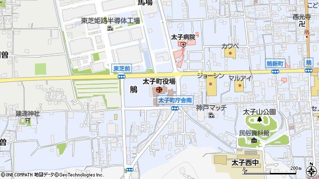 〒671-1500 兵庫県揖保郡太子町(以下に掲載がない場合)の地図