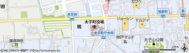 兵庫県揖保郡太子町周辺の地図