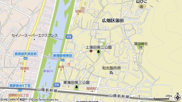 〒671-1102 兵庫県姫路市広畑区蒲田の地図