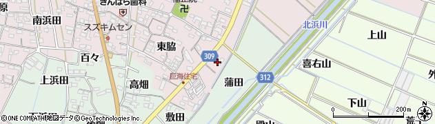 愛知県西尾市巨海町(泉田)周辺の地図
