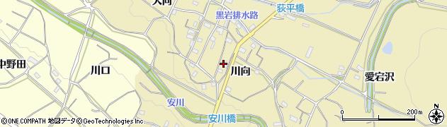 愛知県豊橋市石巻萩平町(川向)周辺の地図