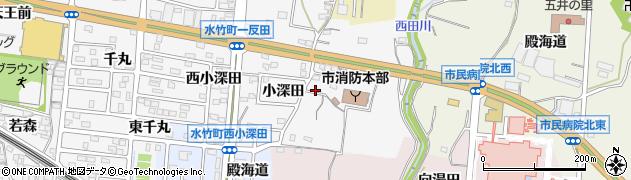 愛知県蒲郡市水竹町(下沖田)周辺の地図