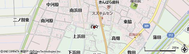 愛知県西尾市刈宿町(百々)周辺の地図