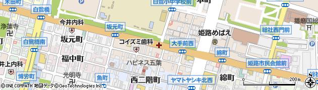 西本町周辺の地図