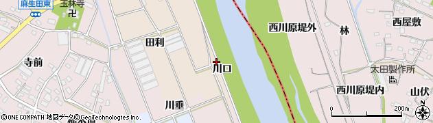 愛知県豊川市向河原町(川口)周辺の地図