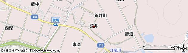 愛知県西尾市吉良町駮馬(荒井)周辺の地図