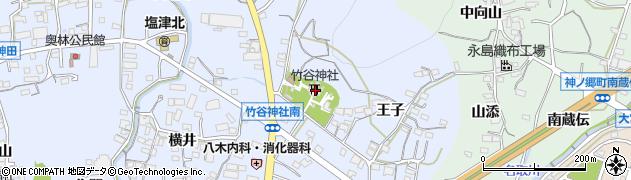 竹谷神社周辺の地図