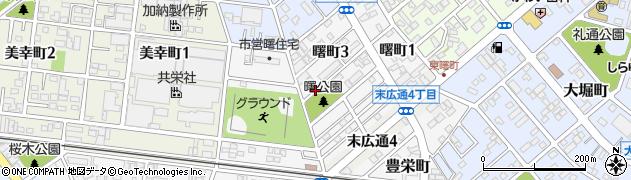 愛知県豊川市曙町周辺の地図