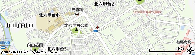 兵庫県西宮市北六甲台周辺の地図