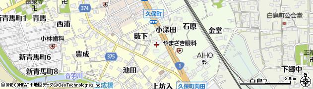 愛知県豊川市久保町(小深田)周辺の地図