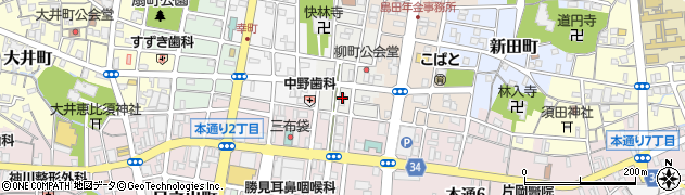 静岡県島田市柳町周辺の地図