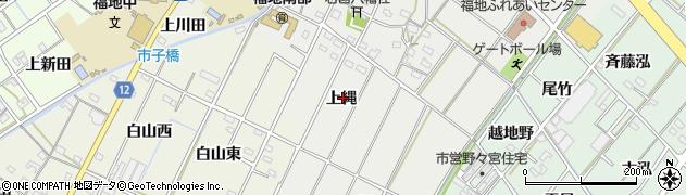 愛知県西尾市斉藤町(上縄)周辺の地図