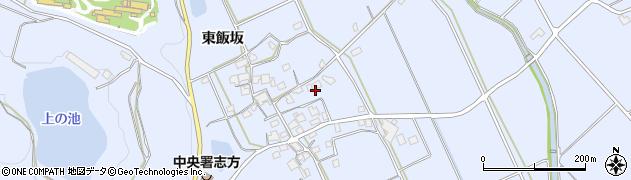 兵庫県加古川市志方町(東飯坂)周辺の地図