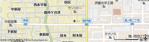 愛知県豊川市市田町(河尻)周辺の地図