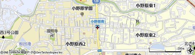 小野原南周辺の地図