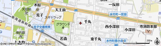 愛知県蒲郡市水竹町(千丸)周辺の地図