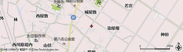 愛知県豊橋市賀茂町周辺の地図