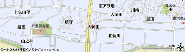 愛知県武豊町(知多郡)東大高(大師田)周辺の地図