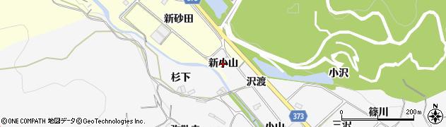 愛知県豊川市御津町豊沢(新小山)周辺の地図