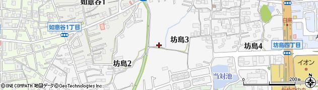 大阪府箕面市坊島周辺の地図
