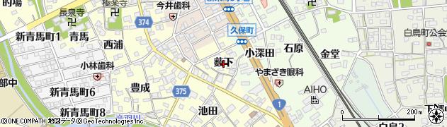 愛知県豊川市国府町(薮下)周辺の地図