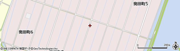 愛知県西尾市奥田町周辺の地図