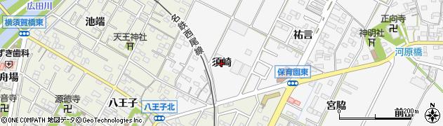 愛知県西尾市吉良町木田(須崎)周辺の地図