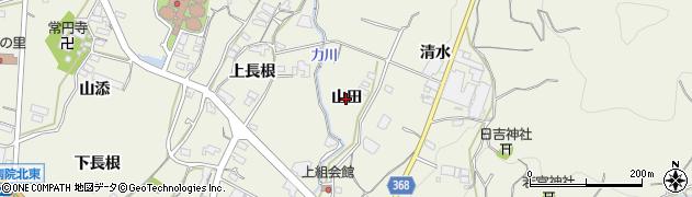 愛知県蒲郡市豊岡町(山田)周辺の地図