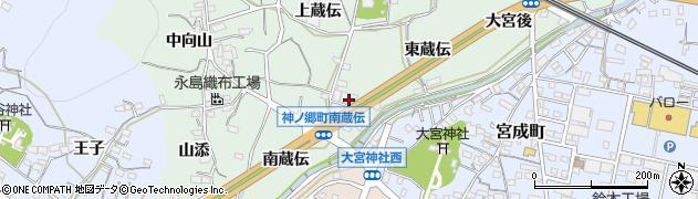 愛知県蒲郡市神ノ郷町(東蔵伝)周辺の地図