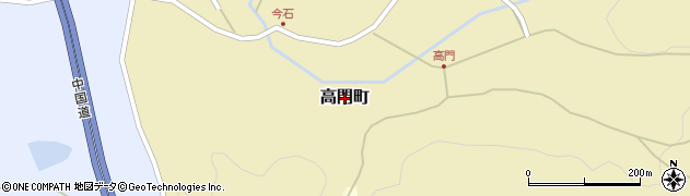 広島県庄原市高門町周辺の地図