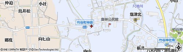 愛知県蒲郡市竹谷町(神田)周辺の地図