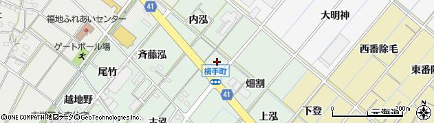 愛知県西尾市横手町(銭亀)周辺の地図