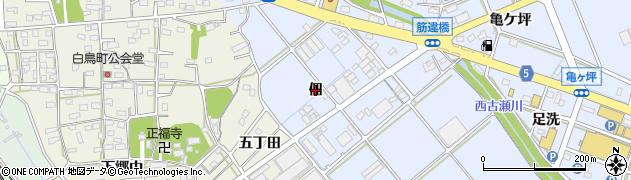 愛知県豊川市八幡町(佃)周辺の地図