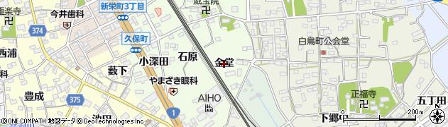 愛知県豊川市久保町(金堂)周辺の地図