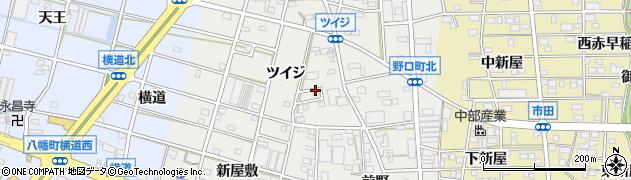 愛知県豊川市野口町周辺の地図