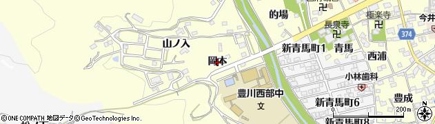 愛知県豊川市国府町(岡本)周辺の地図