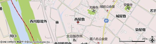 愛知県豊橋市賀茂町(西屋敷)周辺の地図