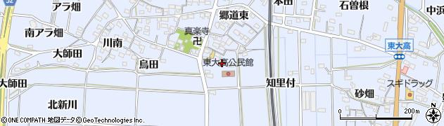 愛知県武豊町(知多郡)東大高(長田)周辺の地図