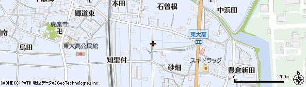 愛知県武豊町(知多郡)東大高周辺の地図
